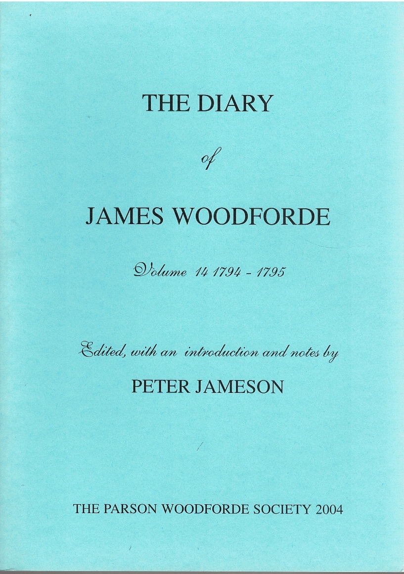Image for The Diary of James Woodforde Volume 14 1794-1795