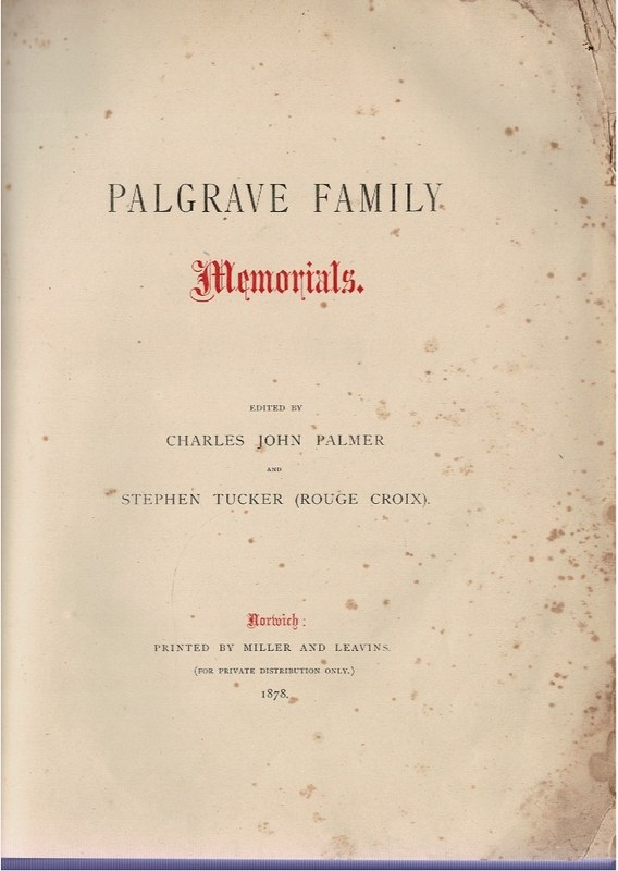 Image for Palgrave Family Memorials.