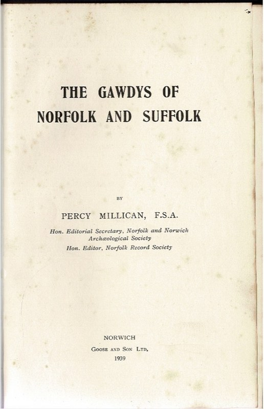 Image for The Gawdys of Norfolk and Suffolk