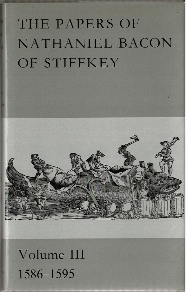Image for The Papers of Nathaniel Bacon of Stiffkey: Volume III 1586-1595