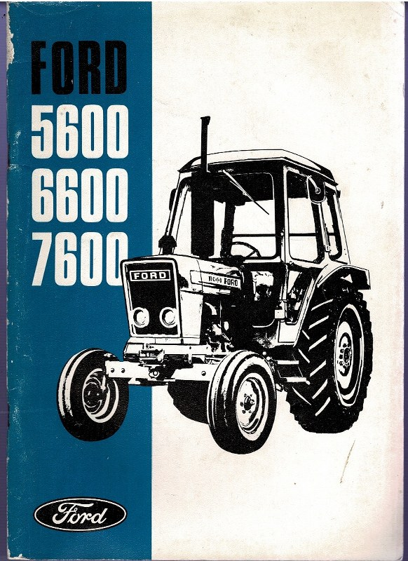 Image for Ford 5600 6600 7600 operator's manual