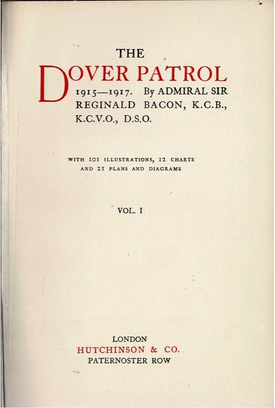 Image for The Dover Patrol 1915-1917.