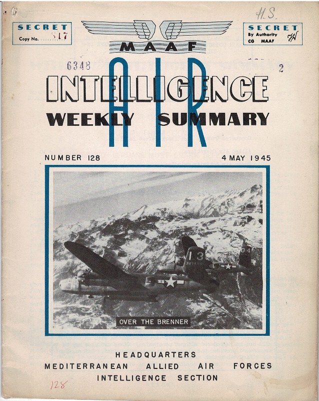 Image for Air Intelligence Weekly Summary Number 128 4 May 1945