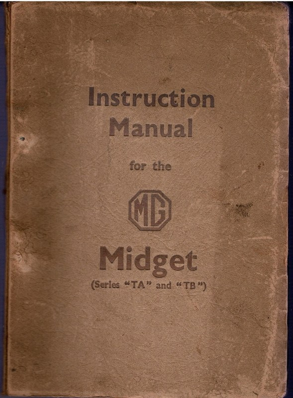 "Image for Instruction Manual fo the MG Midget Series ""TA"" and ""TB"""