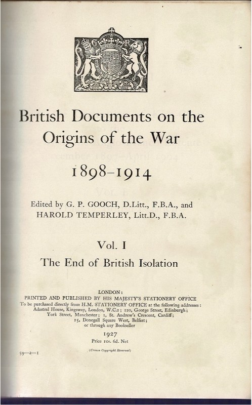 Image for The End of British Isolation Vol. I