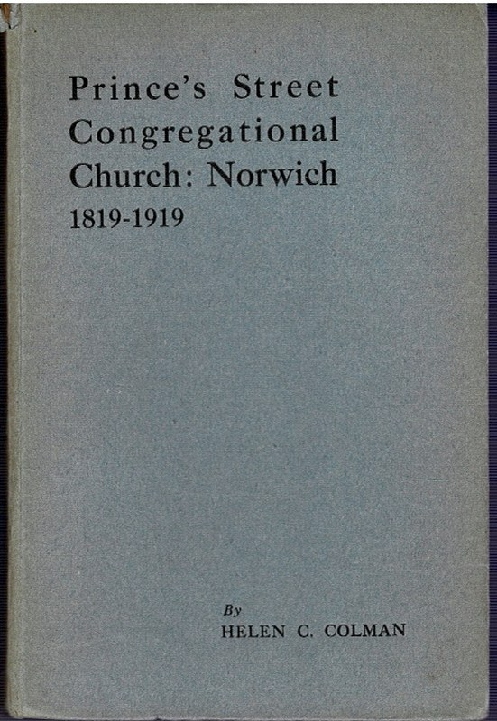 Image for Prince's Street Congregational Church, Norwich 1819 - - - 1919