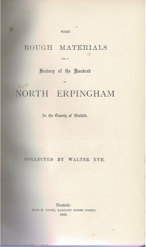 Image for Some Rough Materials for a History of the Hundred of North Erpingham In the County of Norfolk.