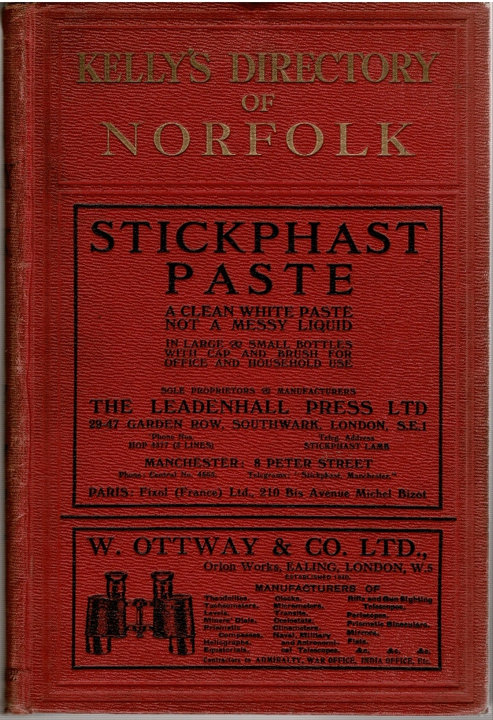 Image for Kelly's Directory of Norfolk (...) 1925