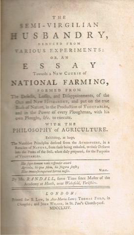Image for The semi-virgilian husbandry deduced from various experiments: or, an essay towards a new course of National Farming' [...]