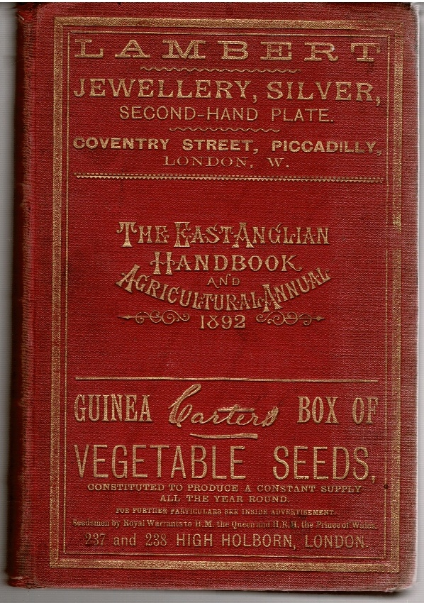 Image for The East Anglian Handbook, and Agricultural Annual for 1892.