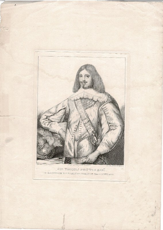 Image for Sir Thomas Pettus Bart. of Rackheath Norfolk, High Sheriff of the County 1632