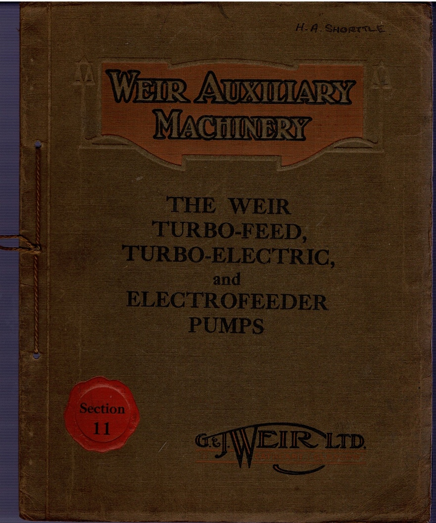 Image for The Weir Turbo-Feed, Turbo-Electric, and Electrofeeder Pumps Section 11