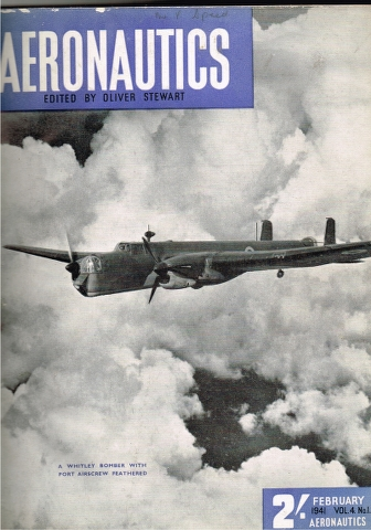 Image for Aeronautics Vol. 4. No. 1 February 1941 to Vol. 4. No. 6 July 1941 bound into one volume.