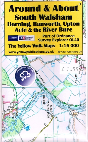 Image for South Walsham, Horning, Ranworth, Upton, Acle & the River Bure Map (Part of Ordnance Survey OL40)