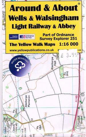 Image for Wells & Walsingham Light Railway & Abbey Map (Part of Ordnance Survey Explorer 251)