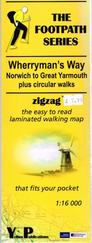 Image for Wherryman's Way: Norwich to Great Yarmouth plus circular walks zigzag the easy to read laminated walking map