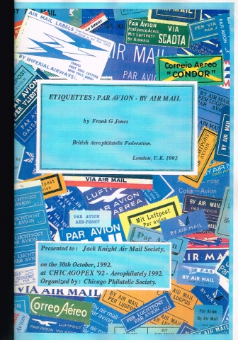 Image for Etiquettes: Par Avion - By Air Mail