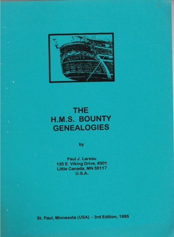 Image for The H.M.S. Bounty Genealogies